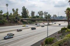 Autoroute 210 d'un état à un autre en Californie Images libres de droits