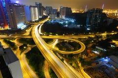 Autoroute dans la nuit Image stock