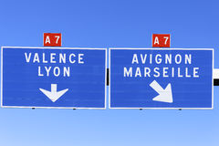 Autoroute direction Royalty Free Stock Image