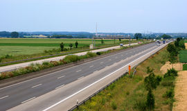 Autoroute en Allemagne images stock