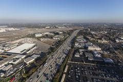 Autoroute Long Beach de la vue aérienne 405 Photo stock