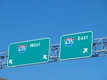 Autoroute nationale 635 à l'échange de la haute 5 Images stock