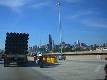 Autoroute nationale de Chicago photos libres de droits