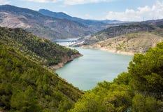 A-44 autoroute through Sierra Nevada mountains Royalty Free Stock Images