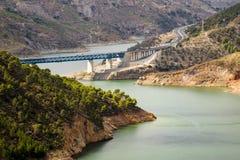 A-44 autoroute through Sierra Nevada mountains Royalty Free Stock Photography