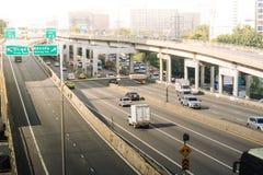 Autoroute urbaine à Bangkok Images libres de droits