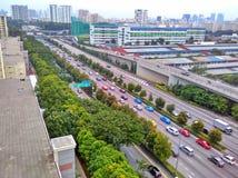 Autoroute urbaine centrale photo libre de droits