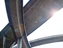 Autoroute urbaine d'intersection Photo stock
