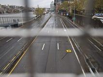 Autoroute urbaine de Sandy New York City FDR d'ouragan vide Images libres de droits