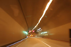 Autoroute urbaine de tunnel Photographie stock