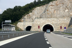 Autoroute urbaine de tunnel Photos stock
