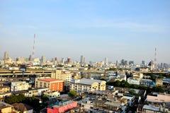 Autoroute urbaine de vacarme-Daeng de point de vue de Bangkok Photos stock