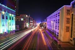 Autoroute urbaine est-ouest de Qingdao Images libres de droits