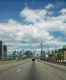 Autoroute urbaine Toronto Ontario Canada de Gardiner Images libres de droits