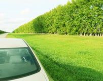 Autoroute, voyageant à de beaux endroits Photographie stock