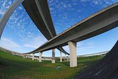 Autoroutes urbaines du sud de la Floride. Image stock