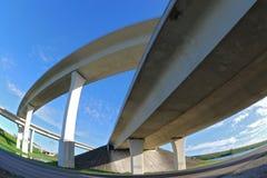 Autoroutes urbaines du sud de la Floride. Photographie stock