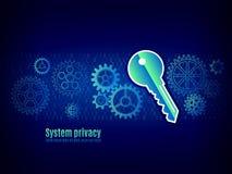Autoryzacja w systemu Użytkownika uwierzytelnienie ilustracja wektor