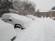 "Autos abgedeckt im Schnee Januar 2016 USA Ð "" Stockfotografie"