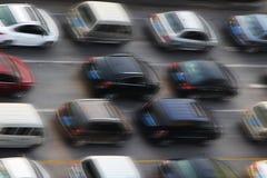 Autos auf Asphalt Lizenzfreies Stockfoto