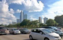 Autos auf der Straße in Chicago Stockfoto