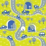 Autos auf der Straße Nahtloses Muster Lizenzfreies Stockbild