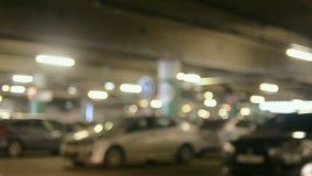 Autos auf undeground Parken stock video