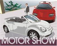 Autos. Autoausstellung vektor abbildung