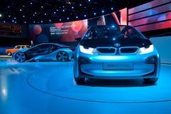Autos des BMW-Konzept-i3 und i8 Stockfotografie
