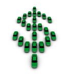 Autos, die Dollar-Symbol bilden Stockbild
