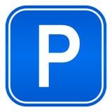 Autos, die Zeichen parken Lizenzfreie Stockfotografie