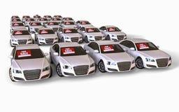 Autos für Verkauf stock abbildung