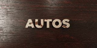 Autos - grungy wooden headline on Maple  - 3D rendered royalty free stock image Stock Image