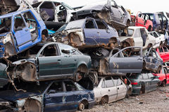 Autos im Autofriedhof Lizenzfreie Stockfotografie