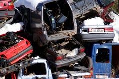 Autos im Junkyard Lizenzfreies Stockbild