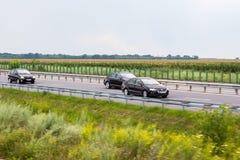 Autos im Verkehr Stockfotografie
