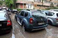 Autos im Wasser Lizenzfreies Stockfoto