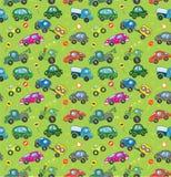 Autos. Nahtloses Muster. Lizenzfreies Stockbild
