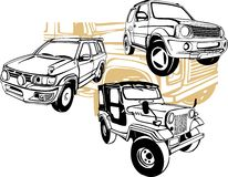 Autos nicht für den Straßenverkehr - Vektorsatz Stockbilder