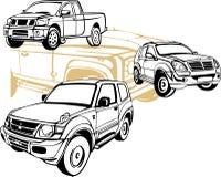 Autos nicht für den Straßenverkehr - Vektorsatz Lizenzfreies Stockfoto