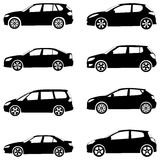 Autos silhouettieren Set Lizenzfreie Stockbilder