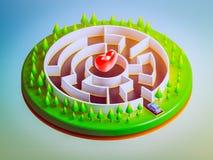Autos sind im Begriff, das Labyrinth zu betreten Lizenzfreies Stockbild