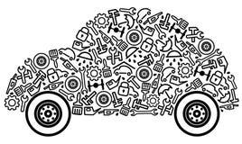 Autos und Ersatzteile vektor abbildung