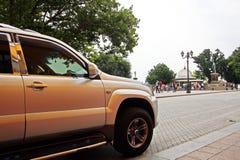Autos und ihre verschiedene Teilnahaufnahme auf den Straßen von Odessa, Ukraine lizenzfreie stockfotografie
