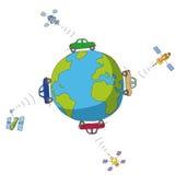 Autos und Satelliten Lizenzfreies Stockfoto