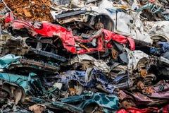 Autos wurden ausrangiert stockfotos