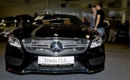 Autosalon斯洛伐克2014年-奔驰车类CLS 免版税库存照片
