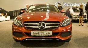 Autosalon Eslováquia 2014 - classe C Combi de Mercedes Benz Imagens de Stock