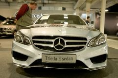 Autosalon Eslováquia 2014 - sedan da classe E de Mercedes Benz Fotos de Stock Royalty Free