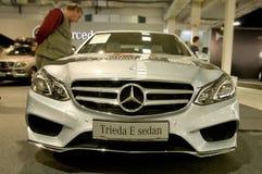 Autosalon Sistani 2014 - Mercedez Benz klasy E sedan Zdjęcia Royalty Free